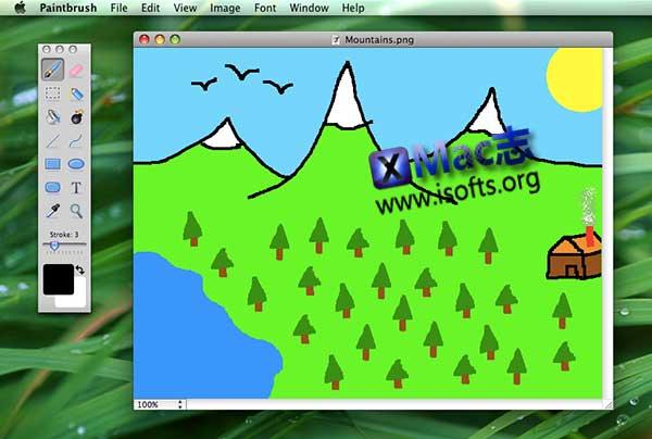 [Mac]简单方便的图像编辑器 : Paintbrush