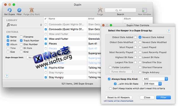[Mac] iTunes重复音乐检测工具 : Dupin