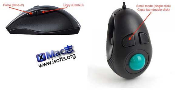 [Mac]通过鼠标点击实现复制粘贴 : mouse34Btn