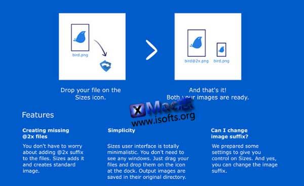 [Mac]图片尺寸大小修改工具 : Sizes