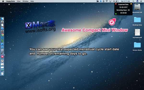 [Mac]女性月经周期软件 : Happy Periods