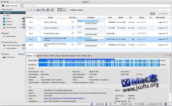 [Mac] BT下载工具 : BiglyBT