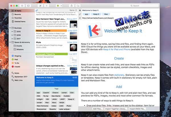 [Mac]专注于文档管理的工具 : Keep It