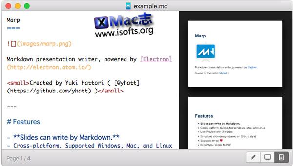 [Mac] Markdown制作幻灯片编辑器 : Marp