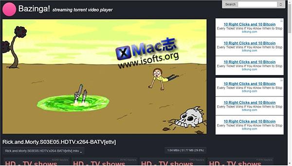 [Mac] BT种子播放器 : Bazinga