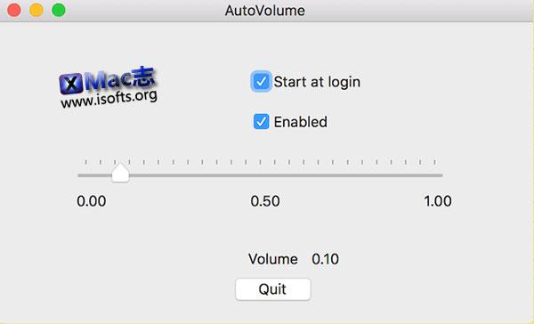 [Mac]电脑唤醒时自动调低音量 : AutoVolume