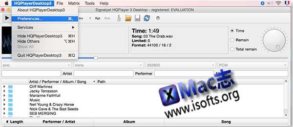 [Mac]高品质音频播放器 : hqPlayer