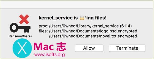 [Mac]通用的免费ransomware检测工具 : RansomWhere?