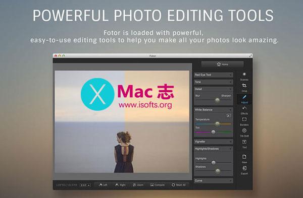 [Mac]轻量级Mac平台修图工具 : Fotor