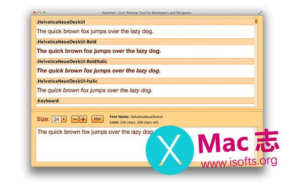 [Mac]字体预览工具 : EverFont PRO