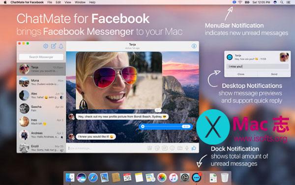 [Mac] Facebook Messenger客户端 : ChatMate for Facebook