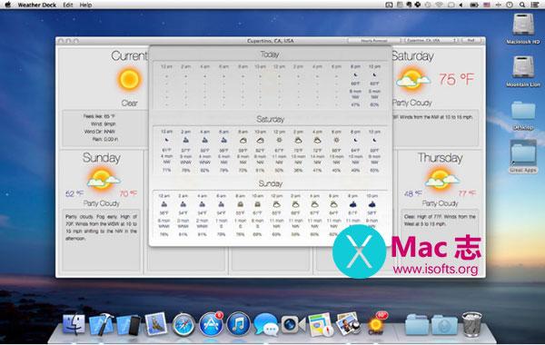 [Mac]准确的天气预报软件 : Weather Dock