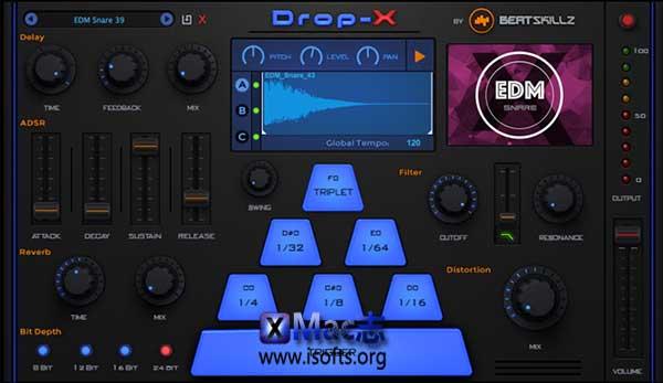 [Mac]节奏重复采样器插件 : BeatSkillz DROP-X