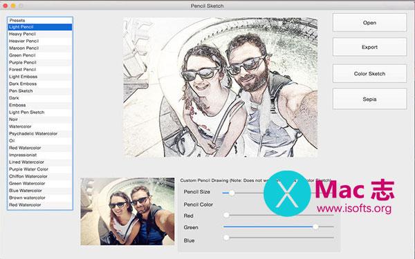 [Mac]照片转手绘素描软件 : PencilSketch