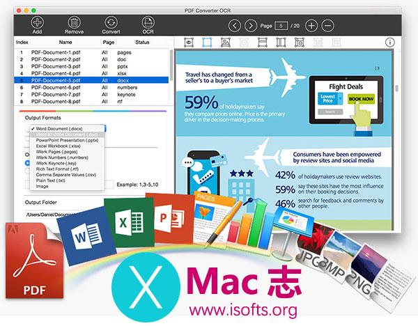 [Mac] PDF格式转换工具 :Lighten PDF Converter OCR