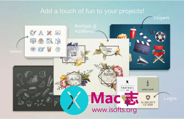 [Mac] MS Office设计素材套件 : Design Elements Lab – Template