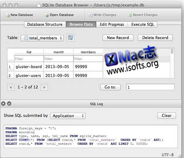 [Mac] SQLite数据库文件查看创建工具:DB Browser for SQLite