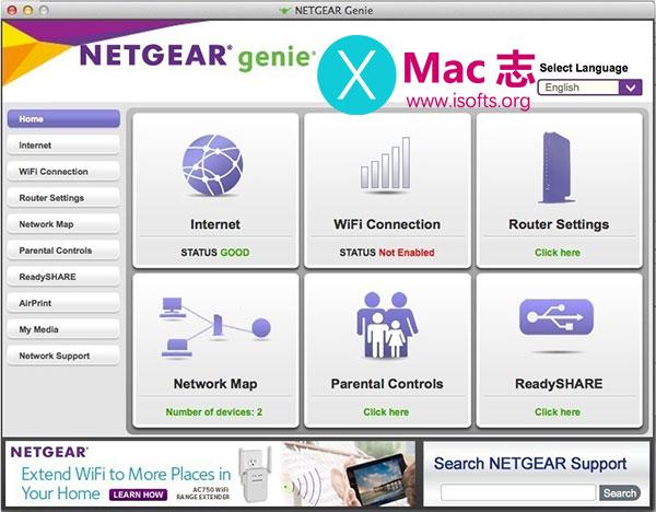 [Mac]网件Netgear路由器管理工具 : Netgear Genie