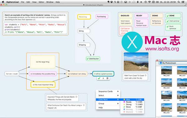 [Mac]免费的思维导图工具 : BigHairyGoal