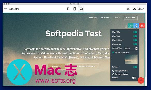 [Mac]自适应网页制作工具 : Mobirise