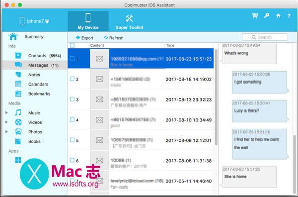 [Mac] iPhone/iPad/iPod设备数据备份及传输工具 : Coolmuster iOS Assistant