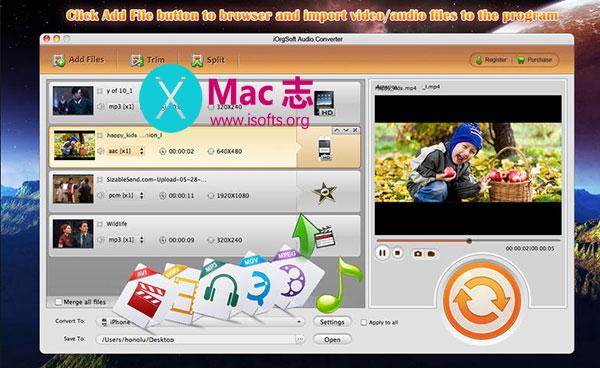[Mac]强大的音频格式转换工具 : iOrgsoft Audio Converter