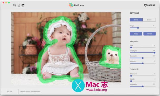[Mac]照片快速实现颜色聚焦的工具 :PicFocus