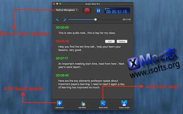 [Mac]音频录音笔记软件 : Easy Audio Notes