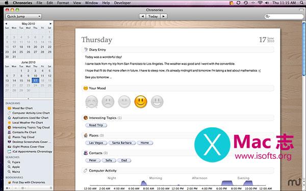 Chronories : Mac平台强大的日记软件