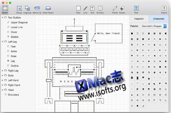[Mac] ASCII艺术编辑器 : Monodraw