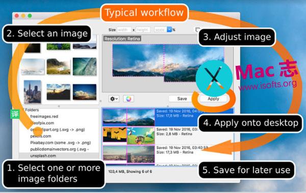 [Mac]桌面背景图像快速自定义调整工具 : Fresco
