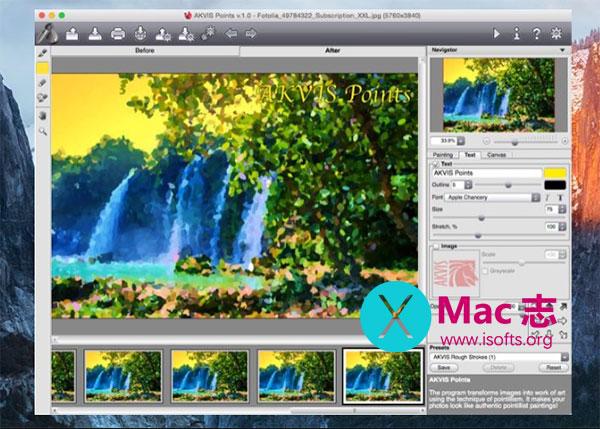 [Mac]将照片转换成点彩画的工具 : AKVIS Points