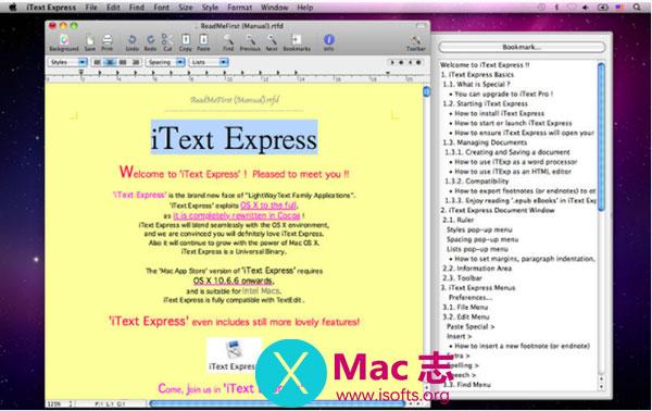 [Mac]简单方便的文字处理工具 :iText