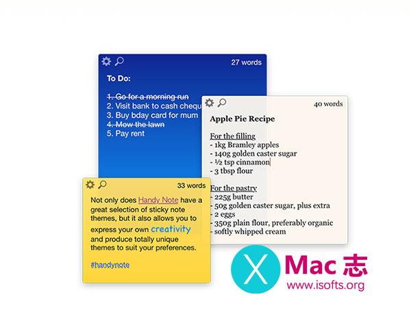 [Mac]桌面便签工具 :Handy Note