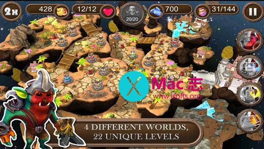 [iPhone/iPad] 3D塔防即时战略游戏 : Brave Guardians TD(勇敢的守卫)