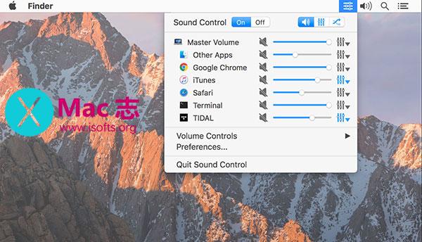 [Mac]针对不同的应用使用不同的音量设置 : Sound Control