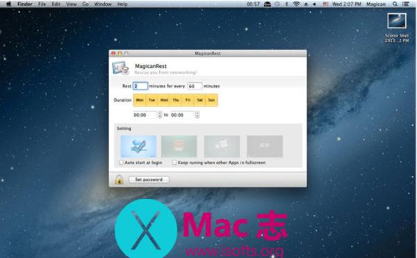 [Mac]定时提醒休息工具 : MagicanRest