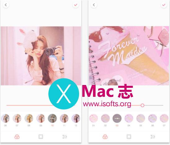 [iPhone/iPad]少女系甜美相机工具 : Palette Pink(少女梦)