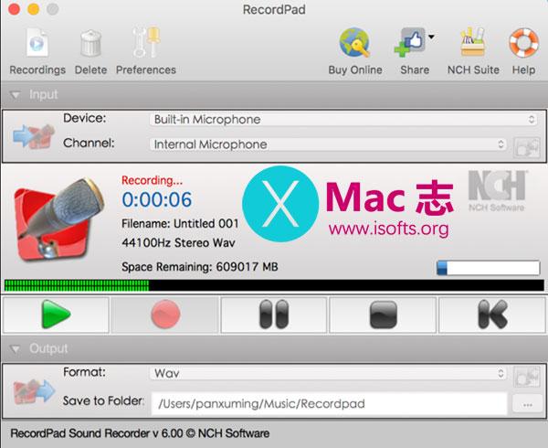 [Mac]录音软件 : NCH RecordPad