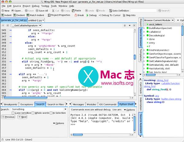 [Mac]智能Python开发环境 : Wingware WingIDE Professional