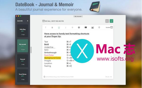 [Mac]日记软件 : DateBook
