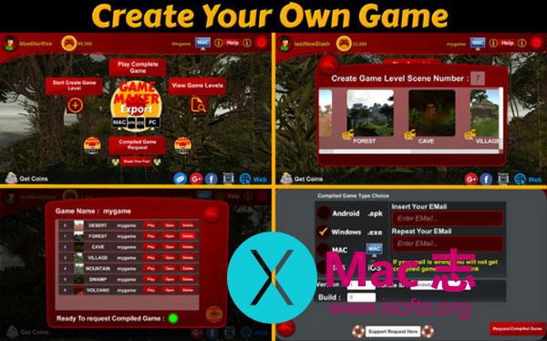 [Mac]自己用来开发制作游戏的工具 : Create Real Games
