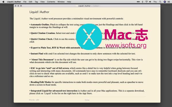 [Mac]文档编辑工具 : Liquid Author