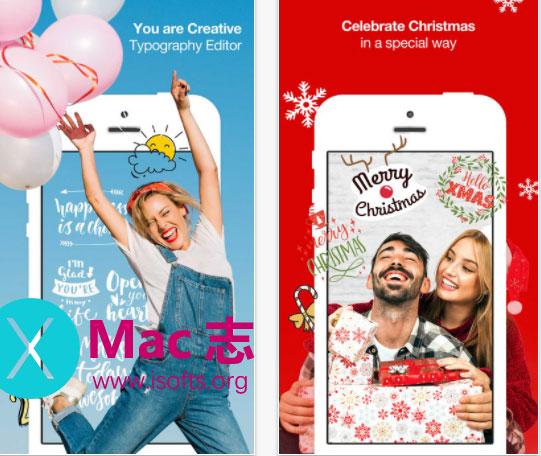 [iPhone]给照片添加漂亮的文字的软件 : Typcas