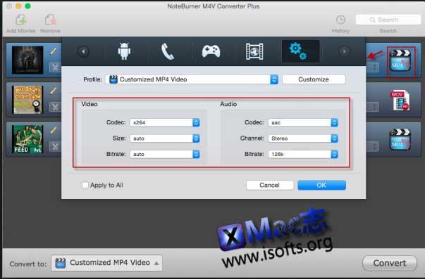 [Mac]M4V视频转换器 : NoteBurner M4V Converter Plus