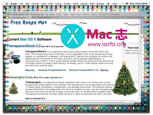 [Mac]圣诞风格的桌面美化主题 : TreetopLights