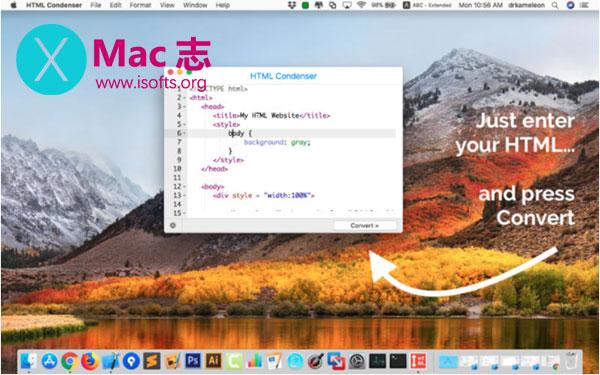 [Mac] html代码压缩工具 : HTML Condenser
