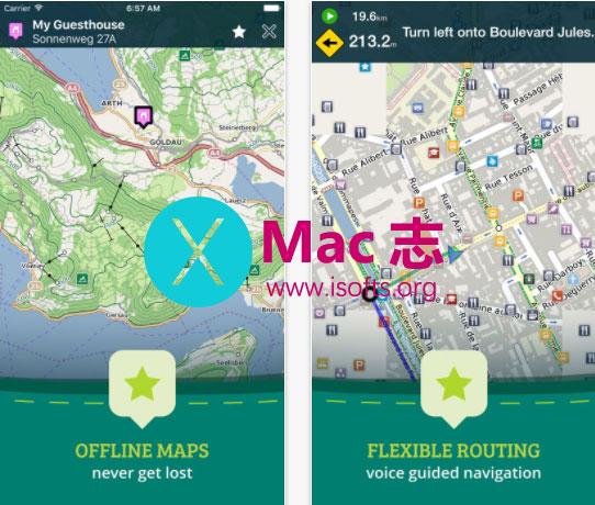 [iPhone/iPad]专业的离线地图及旅游指南软件 : Pocket Earth PRO Offline Maps