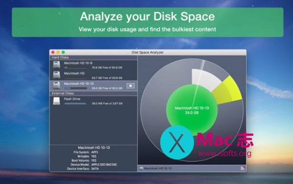 [Mac]磁盘空间分析工具 : Disk Space Analyzer