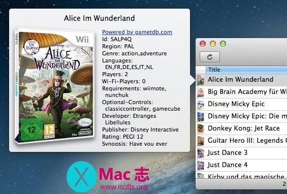 [Mac] Wii及GameCube游戏管理工具 :Witgui